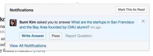 Frage nach Beantwortung auf Quora